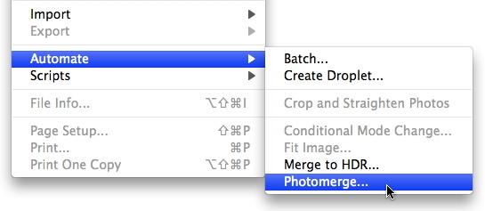 Using File > Automate