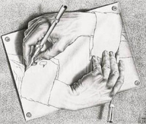 M.C. Escher - Drawing Hands 1948