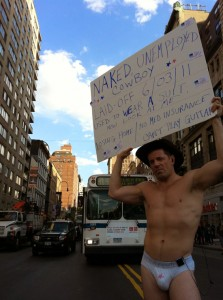 Naked Cowboy, Occupy Wall Street
