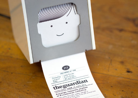 Little Printer spits out customized news, updates, and other networked fun.